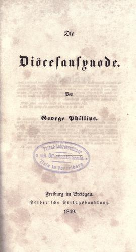 Die Diöcesansynode by Phillips, George