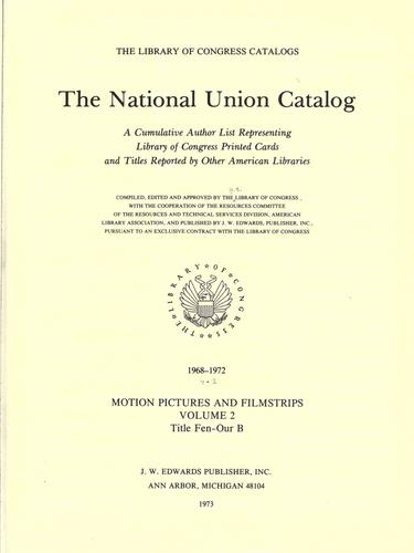 The National union catalog by