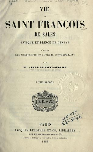 Vie de Saint François de Sales by M. Hamon