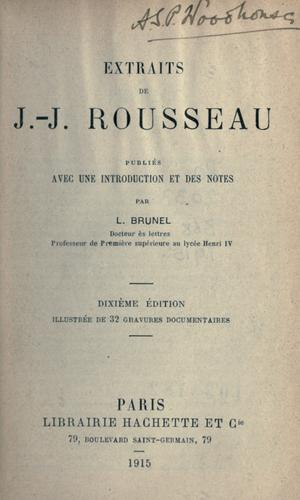 Extraits by Jean-Jacques Rousseau