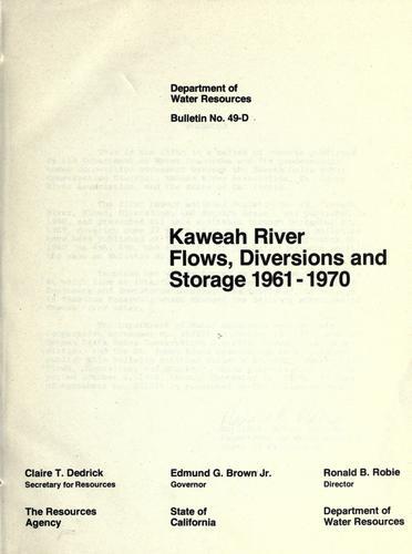 Kaweah river