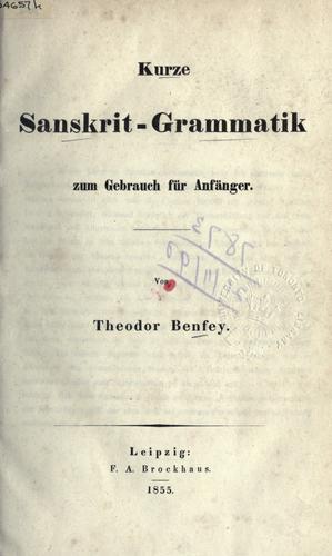 Kurze Sanskrit-Grammatik zum Gebrauch für Anfänger.