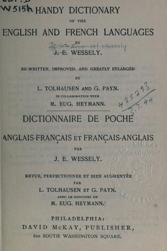 Handy dictionary of the English and French languages by Ignaz Emanuel Wessely