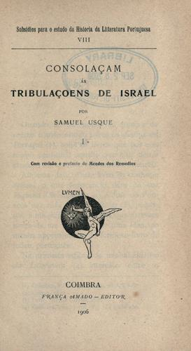 Consolaçam ás tribulaçoens de Israel