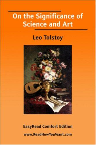 On the Significance of Science and Art EasyRead Comfort Edition